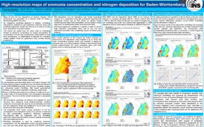 High-resolution maps of ammonia concentration and nitrogen deposition for Baden-Württemberg