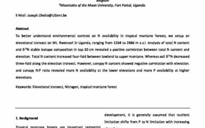 Nitrogen availability along an elevational transect in a tropical montane forest – Rwenzori, Uganda