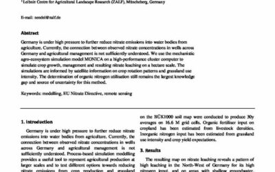 High-resolution simulation of nitrate leaching from agricultural land across Germany