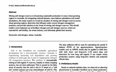 Mining soil nitrogen threatens Australian wheat