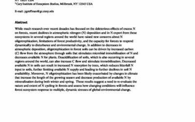Nitrogen oligotrophication in forests: An emerging global trend?
