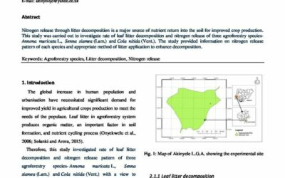 Optimising Nitrogen release in an agroforestry system
