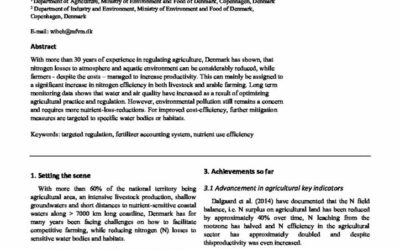 How Danish farmers have doubled N efficiency already & how to reach ambitious future targets