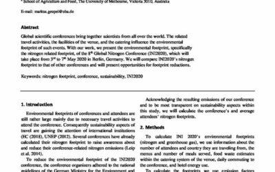 The Nitrogen Footprint for INI2020