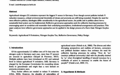A reflexive policy approach for designing a FarmGate Nitrogen Surplus Tax