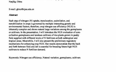 Improving genetical controlled crop nitrogen use efficiency