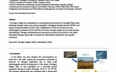Nitrogen budget and critical load estimate in a semi-arid grazed ecosystem