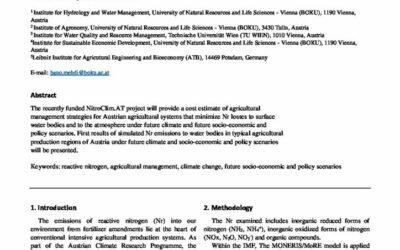 Managing reactive nitrogen in agricultural systems under future conditions in Austria