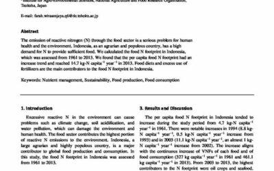 Indonesian Nitrogen Footprint Assessment of Food Sector