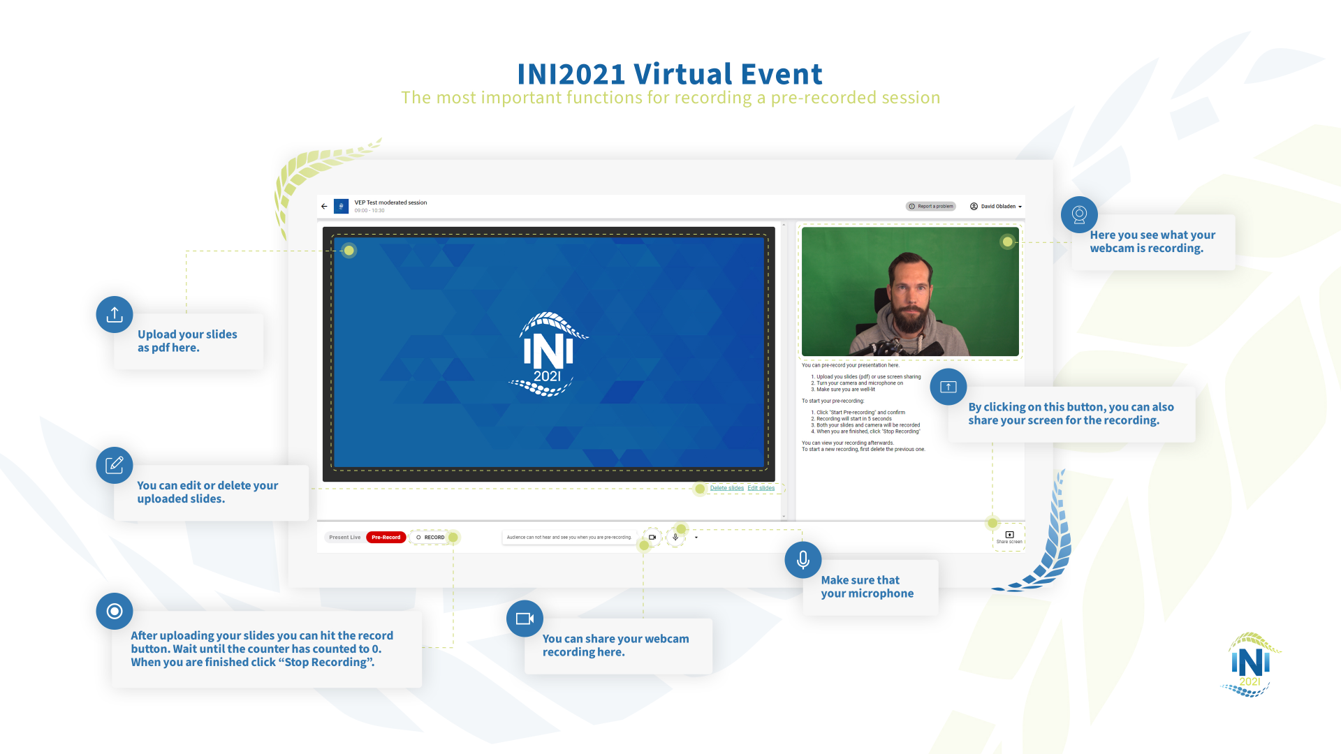 INI2021 Virtual Event How To Pre-Recorded Session Graphic