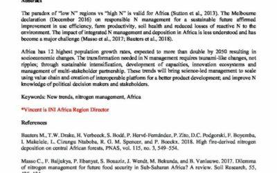 New Trends in Nitrogen Management: Africa Perspective