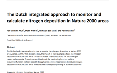 The Dutch integrated approach to monitor and calculate nitrogen deposition in Natura 2000 areas