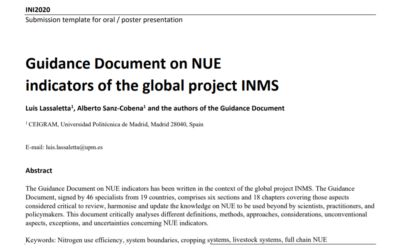 Guidance Document on NUE indicators of the global project INMS