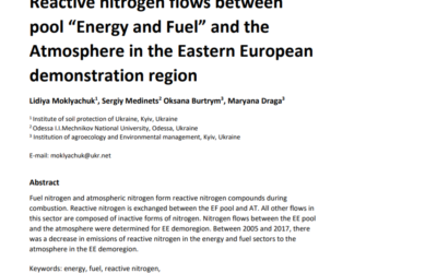 """Reactive nitrogen flows between pool """"Energy and Fuel"""" and the Atmosphere in the Eastern European demonstration region"""