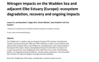 Nitrogen impacts on the Wadden Sea and adjacent Elbe Estuary (Europe)